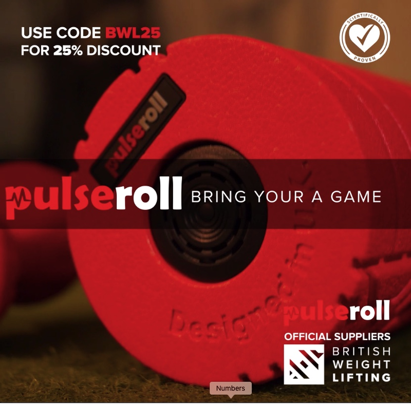 British Weight Lifting and Pulseroll Extend Partnership