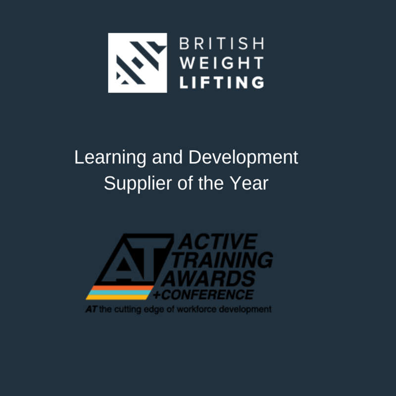British Weight Lifting named UK Active Learning and Development Supplier of the Year