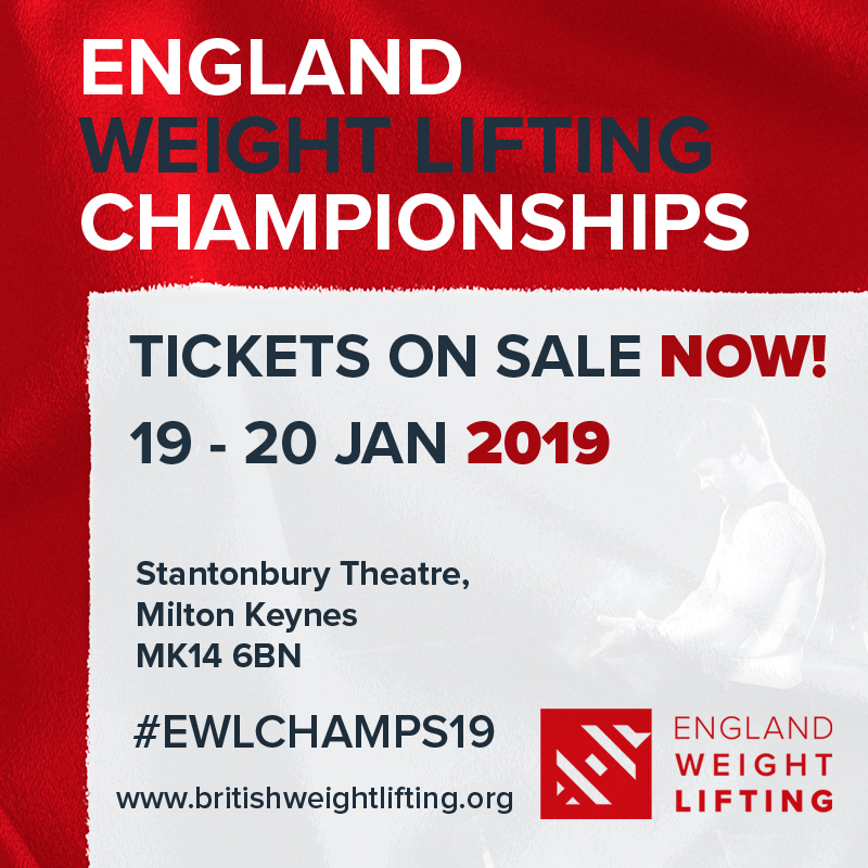 Early Bird Tickets Available For The England Weight Lifting Championships