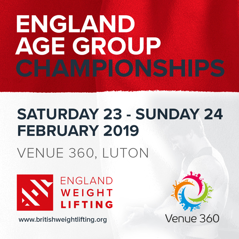 Entries Open For England Age Groups 2019