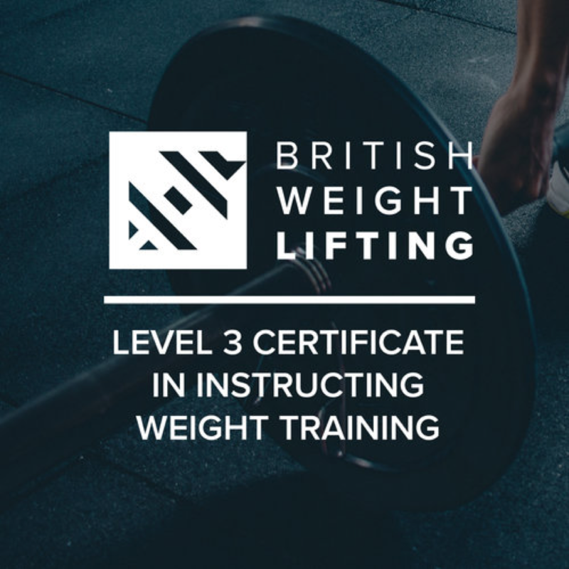 Level 3 Certificate in Instructing Weight Training Now Available