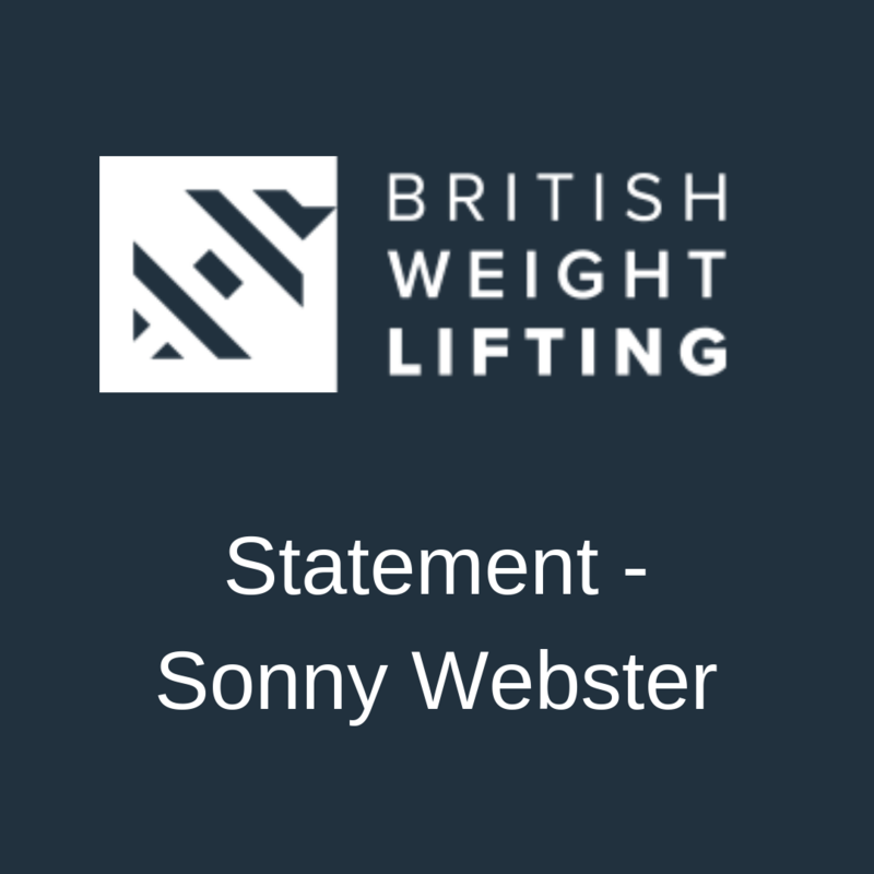 Statement- Sonny Webster
