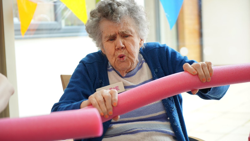 Care Home Residents Get Their Strength In Numbers