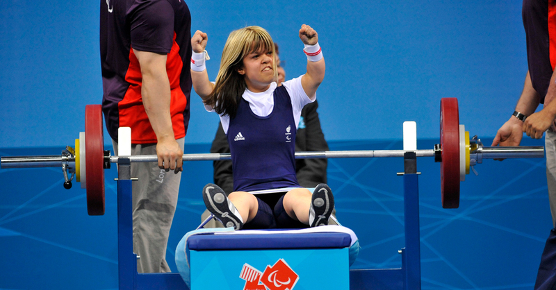 Zoe Newson competing at the London 2012 Paralympic Games