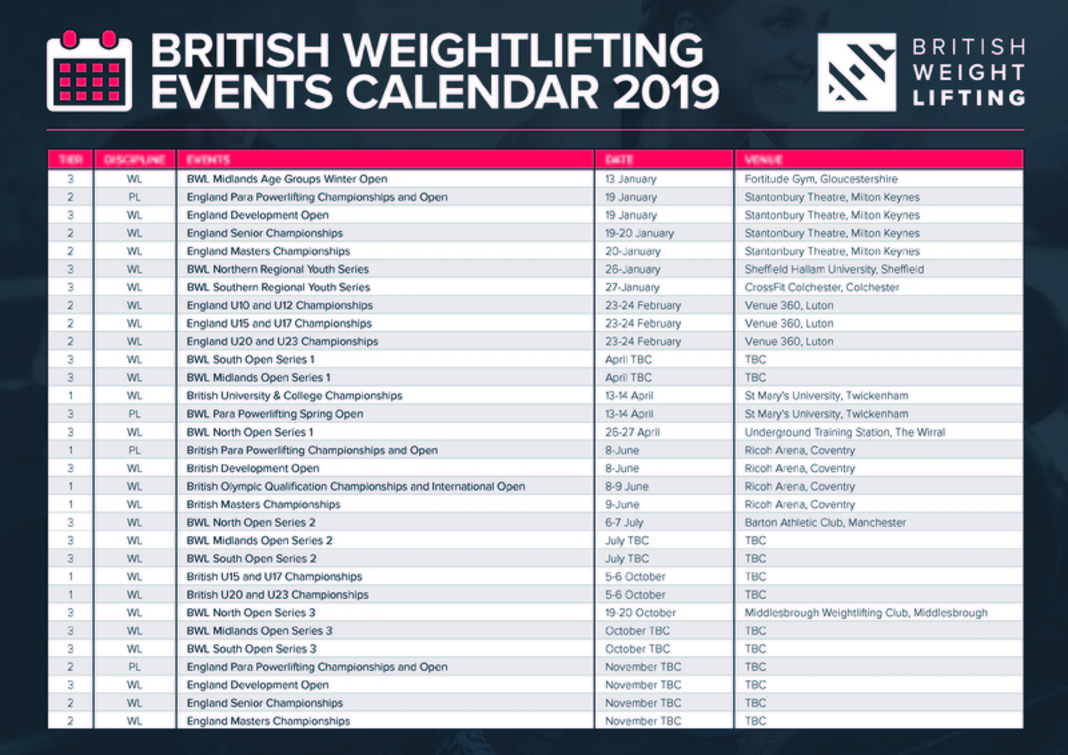 Competition Calendar